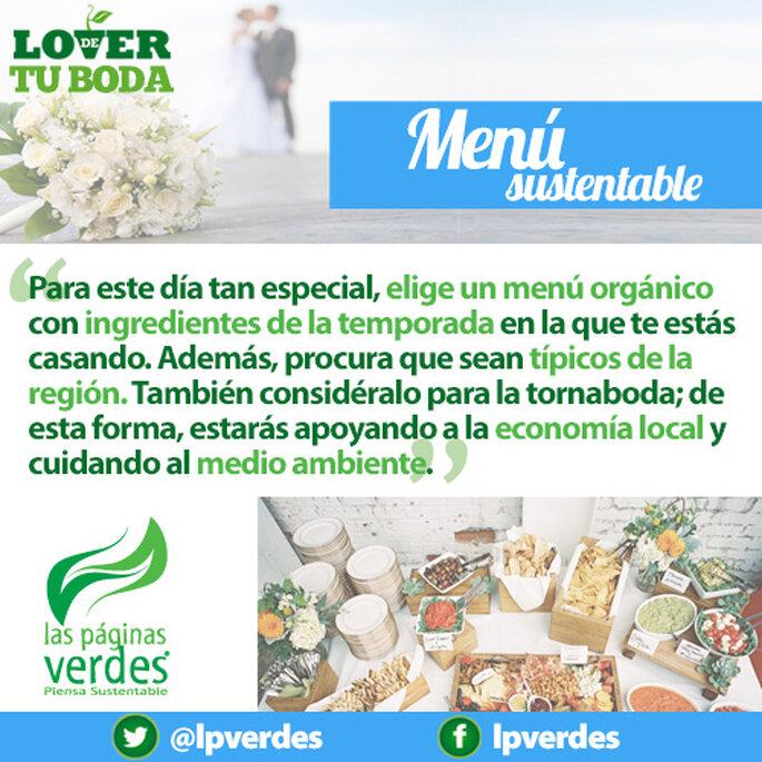Menú sustentable para una boda ecológica - Foto Las Páginas Verdes