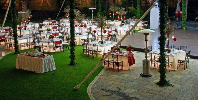 Arecas jardin bodas Cuernavaca