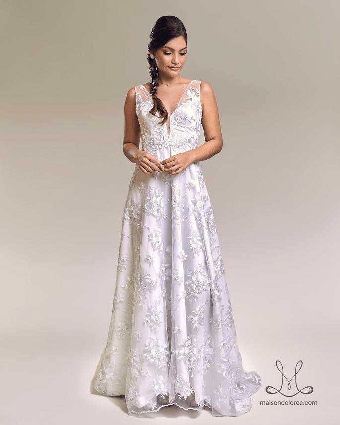 vestido de noiva com renda francesa