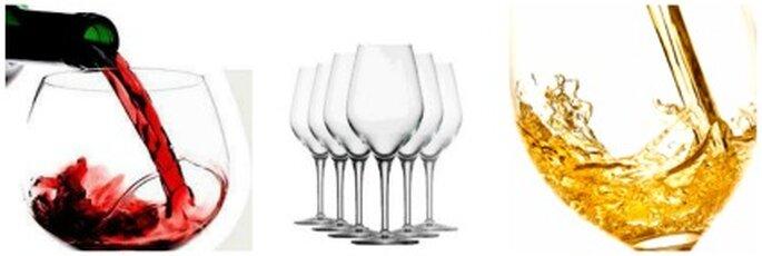 Un litro de vino tinto produce 8 copas