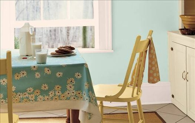 Gosta da cor da cozinha da vizinha?  (foto Martha Stewart.com)