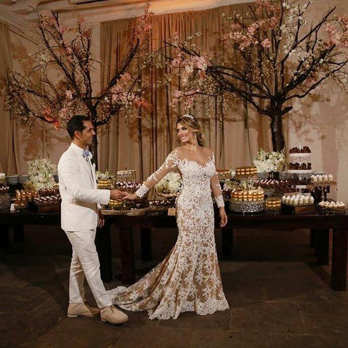 de reina del carnaval a bella novia romántica. ¡se casó daniella donado!