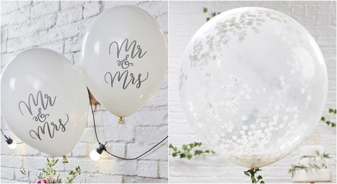 Globos para decorar bodas