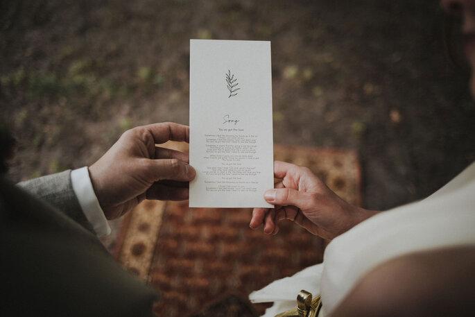 Eheversprechen auf Papier