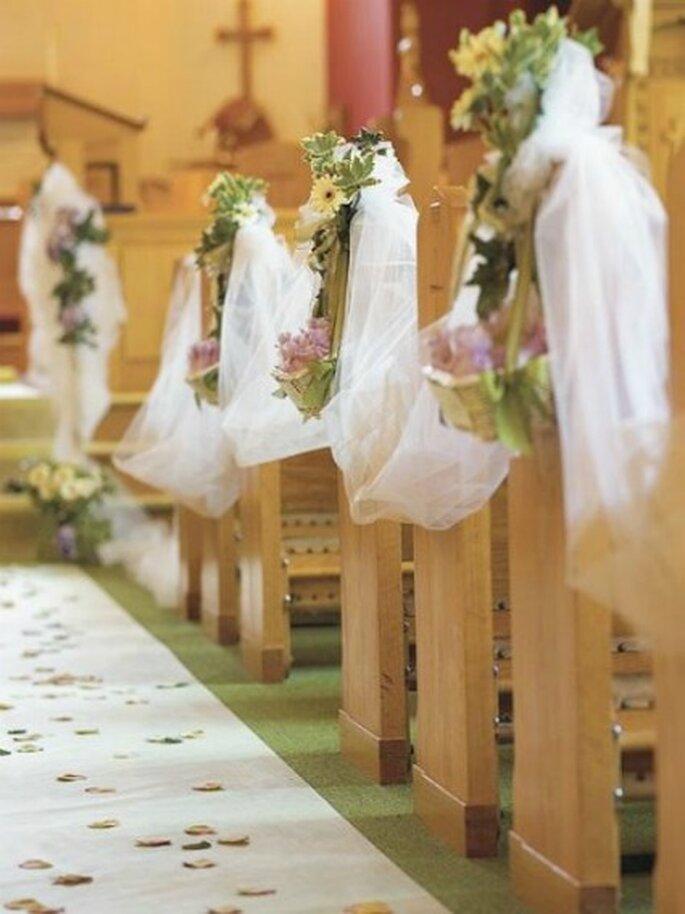Decoracion Iglesia Cristiana ~ Elegante decoraci?n de iglesia con cintas y flores Conoce m?s sobre