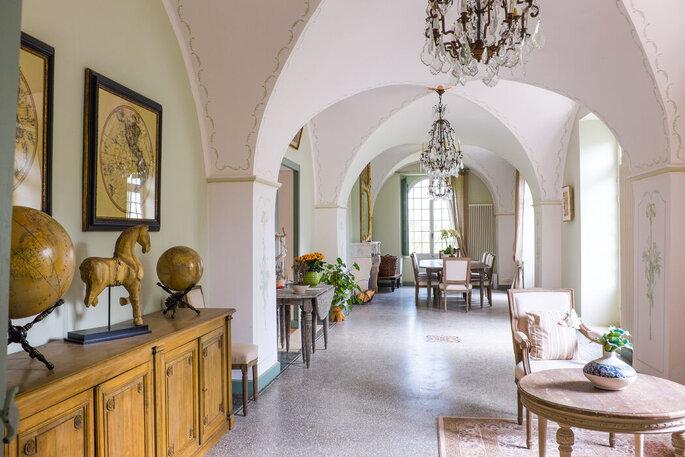 Salle de réception d'un château où se marier dans le Gard