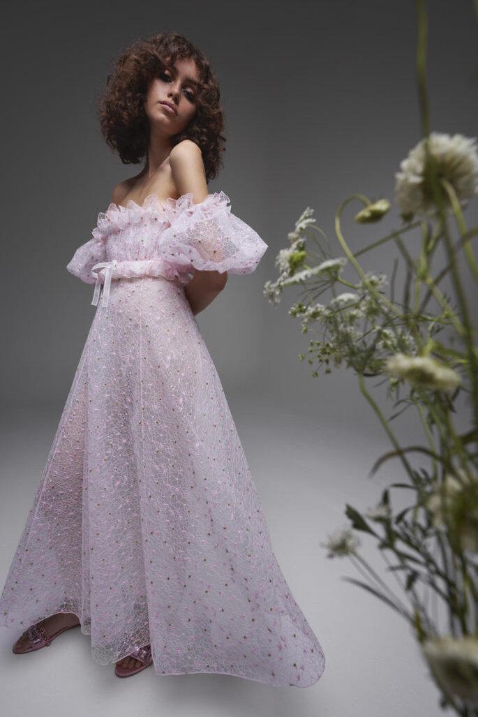 Robe de mariée bohème de couleur