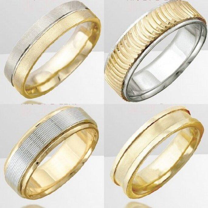Fotos de anillos de matrimonio cortesía de Rosales Orfebres