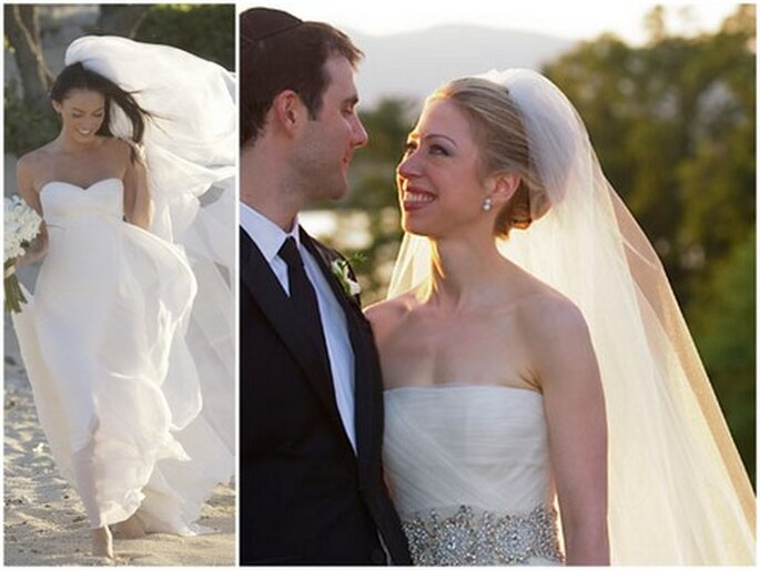chelsea clinton wedding gown. wedding dress by Armani