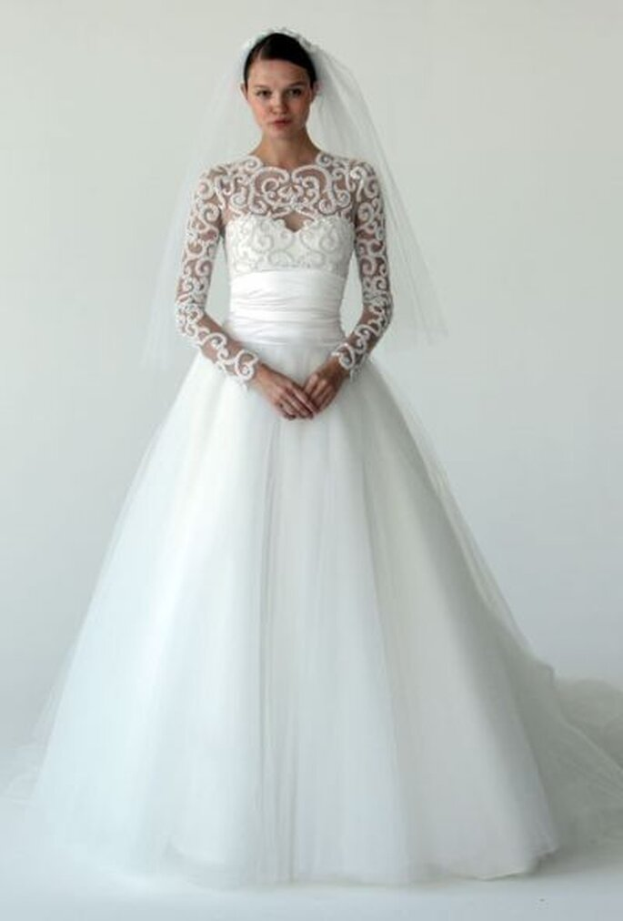 Renewing Vows Dresses on Winter Wedding Dress By Marchesa Fall 2012