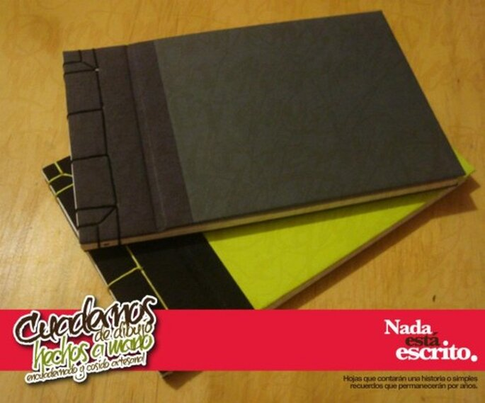 Cuadernos de tapa dura hechos a mano. Fotografías Libretas.Nee