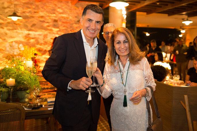 Cristophe Lorvo vice presidente de área do Grand Hyatt e Cristina Lips
