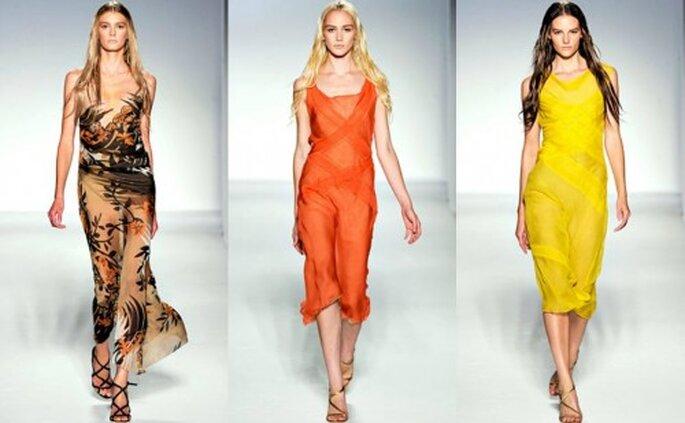 Vestidos de primavera para damas de honor. Foto. Alberta Ferretti Primavera/Verano 201
