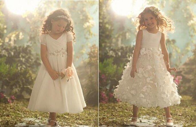 Vestidos de fiesta para niñas. Foto de Alfred Angelo.