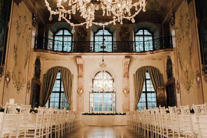 Saal Location Schloss Hochzeit