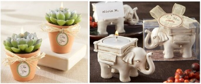 Recuerdos para bodas, las velas son muy versátiles para crear un buen