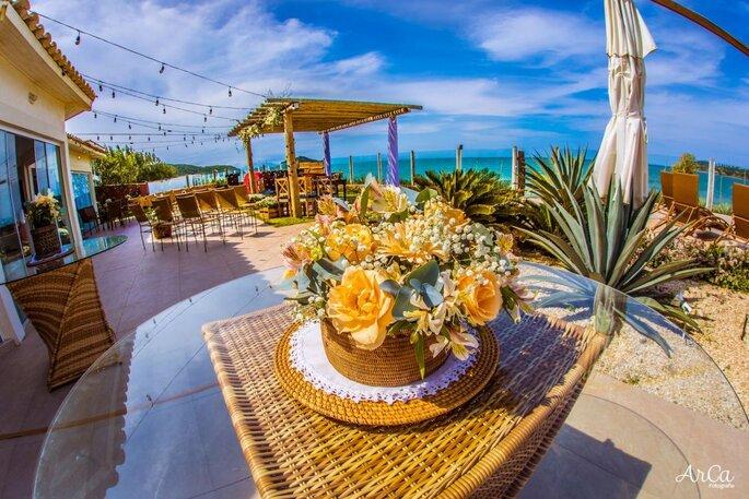 flores casamento ao ar livre