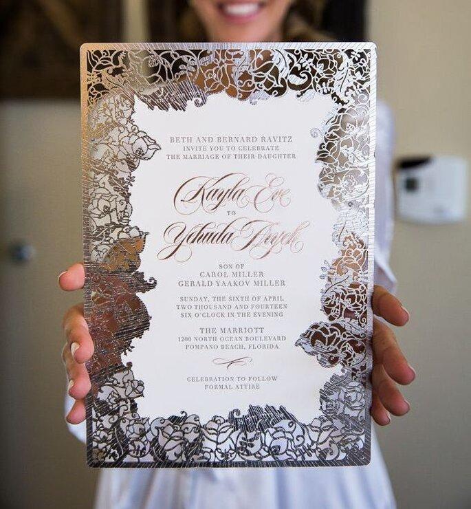 Laser cut invitation card