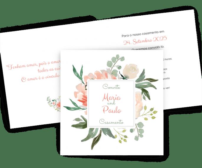 convite de casamento Paper Studio by Zankyou
