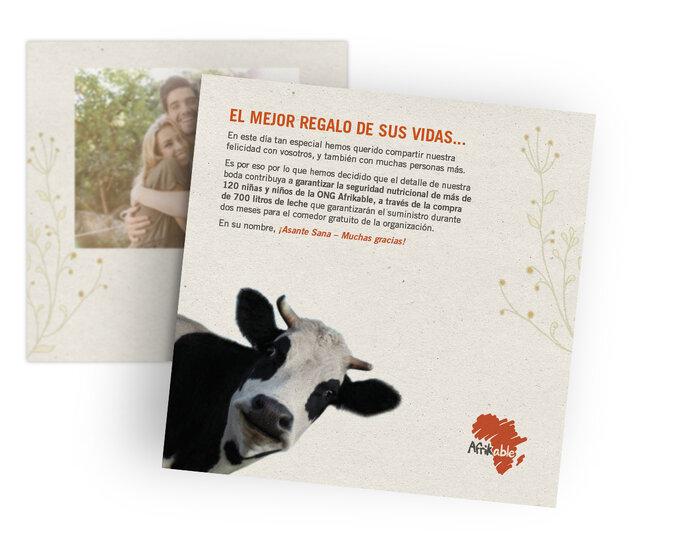 Afrikable - regalo invitados - Madrid
