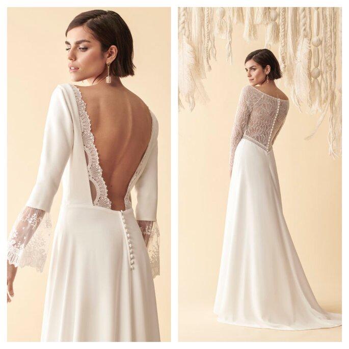 Robes de mariée avec un dos nu ou un dos en dentelle