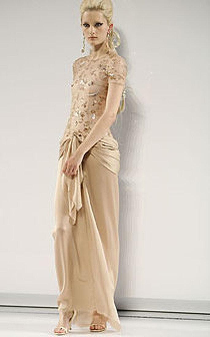 Abito Chanel-Dior - abito color ocra