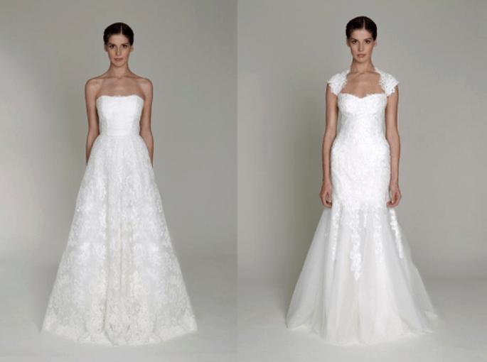 Vestidos de novia elegantes y clásicos de la colección Bliss - Foto Monique Lhuillier