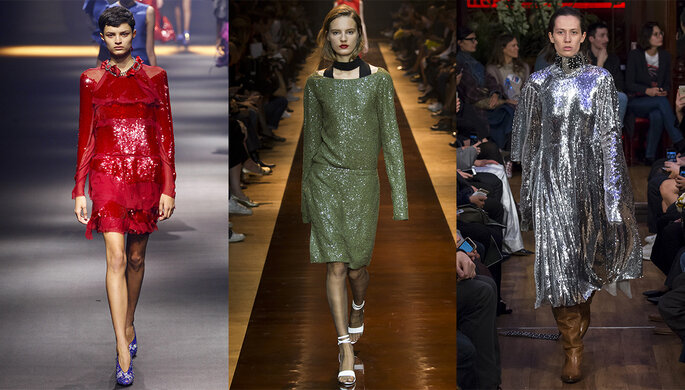 Photo (de gauche à droite) : Lanvin, Nina Ricci, Vêtements