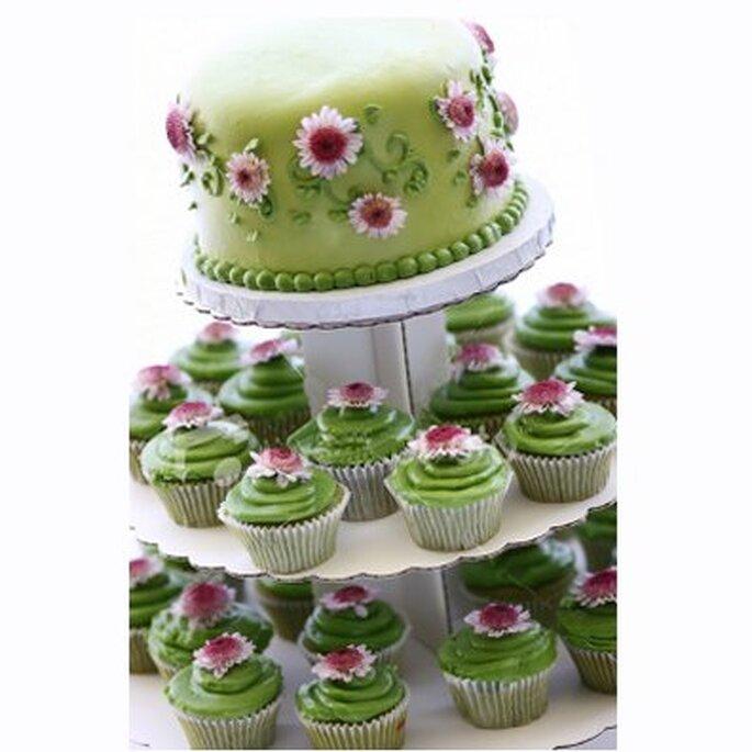Torta de muffins para bodas