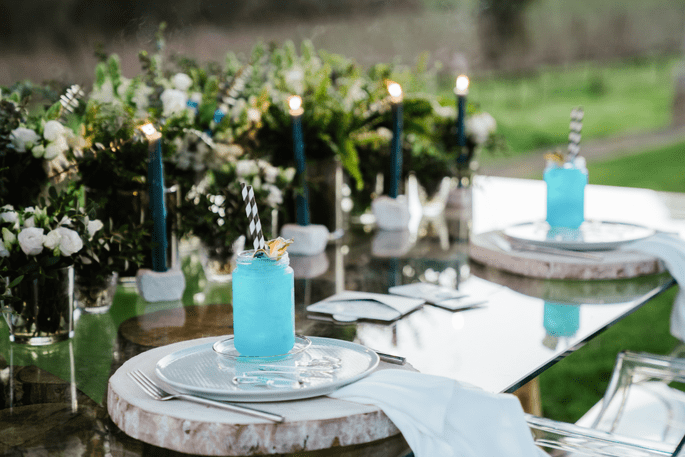 decoração com velas casamento