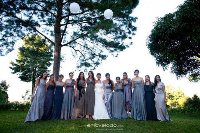 Vestidos para damas de honor en varias tonalidades. Imagen Eric Velado