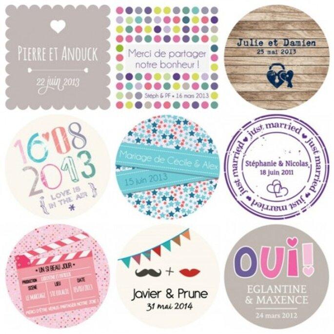 concours les petits cadeaux des stickers personnalis s pour votre mariage. Black Bedroom Furniture Sets. Home Design Ideas