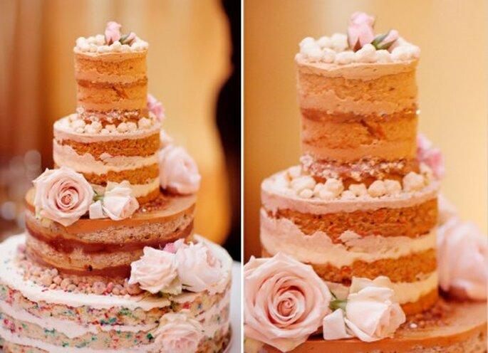 Pasteles para boda sin merengue. Fotografía Jeny Lynne