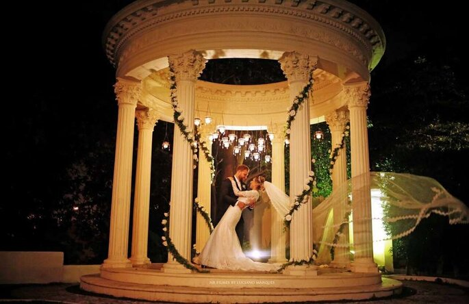 Foto dos noivos depois a cerimônia
