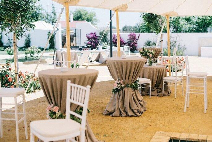 mesas de coctel bodas