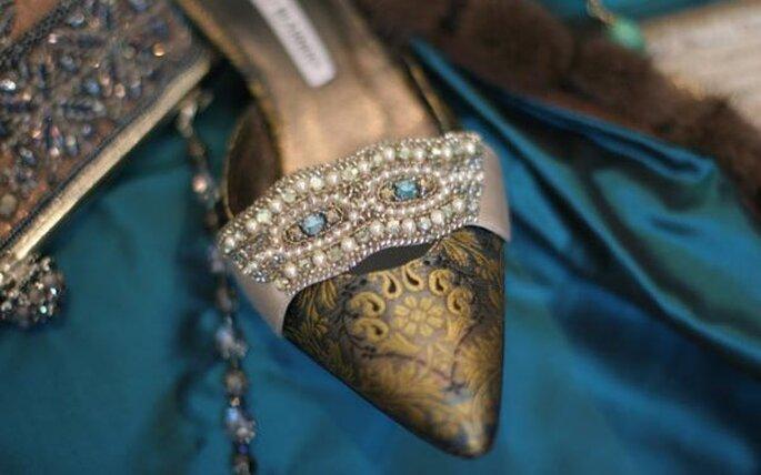 Les chaussures de mariée dessinées par Manolo Blahnik sont synonymes de féminité et de sensualité