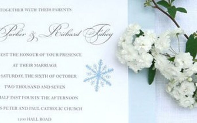 Winter Wedding Invitations 2010