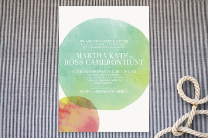 A watercolour inspired wedding - Photo: Minted