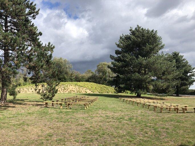 Le parc arboré qui entoure l'Orangerie invite au dépaysement.