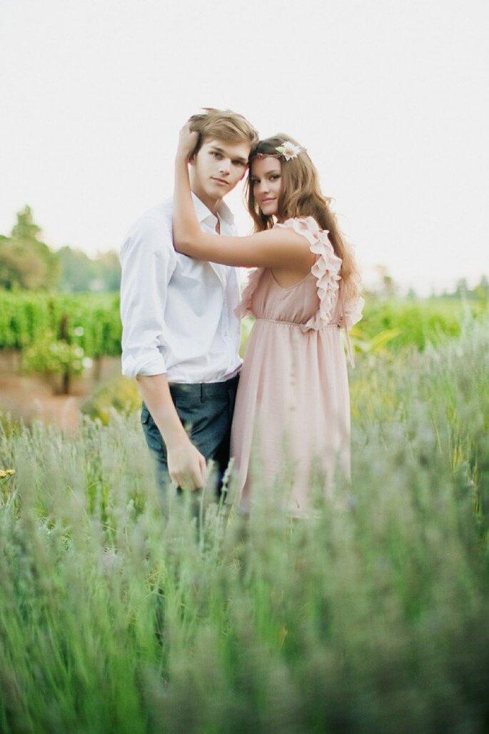 Tu look de novia en rose champagne - Foto Tinywater Photography