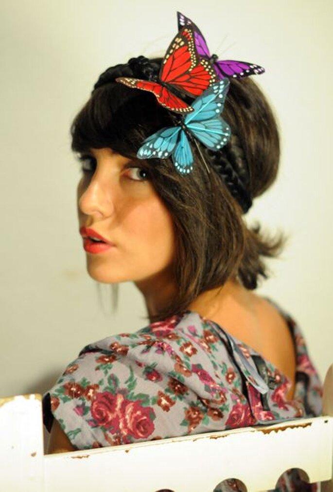 Brautaccessoires im Vintage Stil mit Schmetterlingen