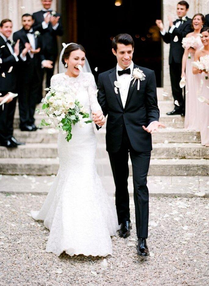 Kirchliche Trauung Auszug Brautpaar
