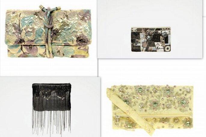 Tendencias en bolsos para ir a una boda. Foto. Asos.com y Zara.com
