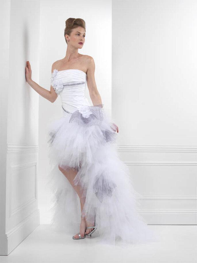Robe de mariée Inattendue : chic et fantaisiste - Créations Bochet