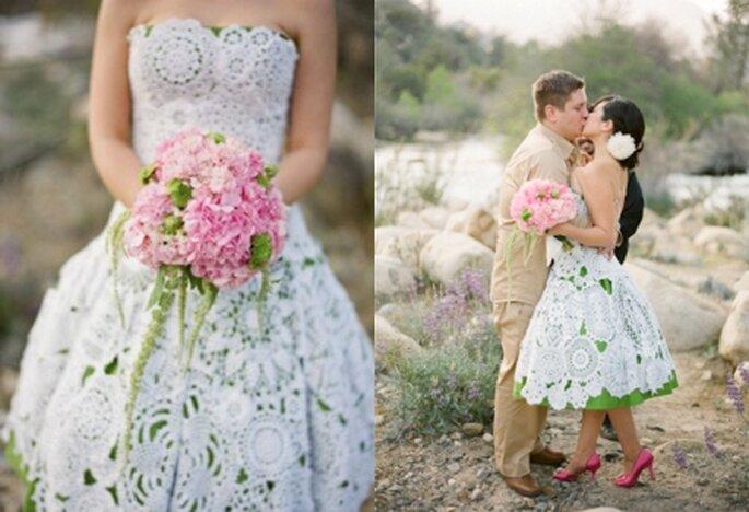 Vestido de novia realizado con blondas - Gia Canali