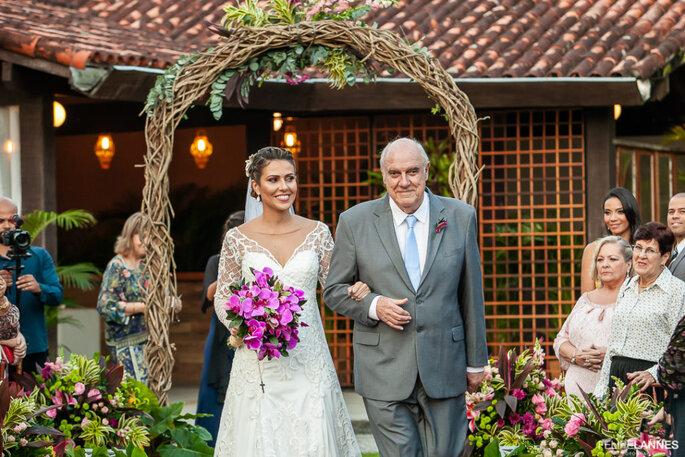 Casamento ao ar livre