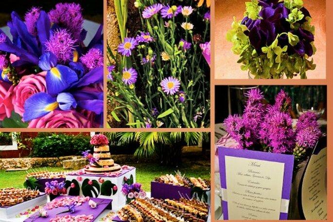 Camaïeu de couleurs pour votre décoration de mariage. Photo: Jaime Gles