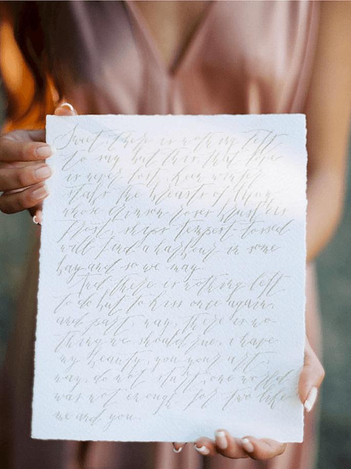 Levado à letra. Convite de casamento