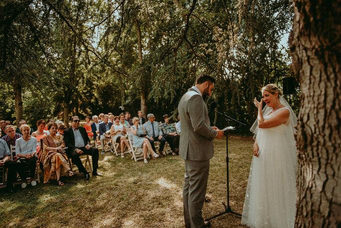 cérémonie laïque -mariage champêtre en Lot-et-Garonne dans le jardin familial