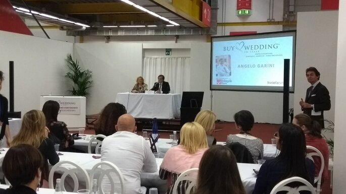 La sala gremita per lo speech di Angelo Garini